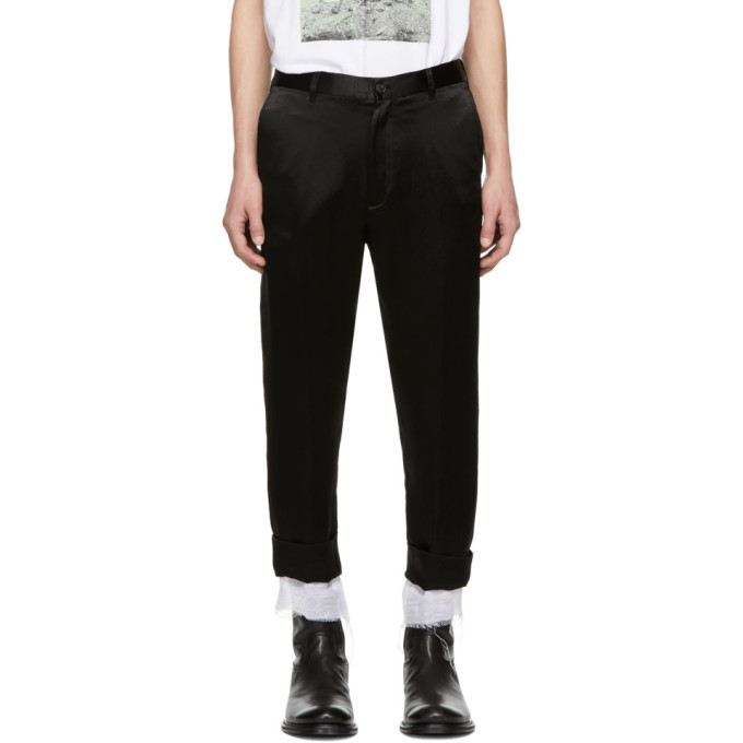 Photo: Ann Demeulemeester Black Dropped Inseam Trousers