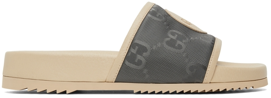 Photo: Gucci Off-White Off The Grid Slide Sandal