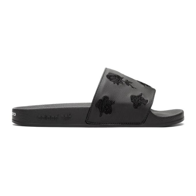 Photo: Y-3 Black AOP Adilette Slides