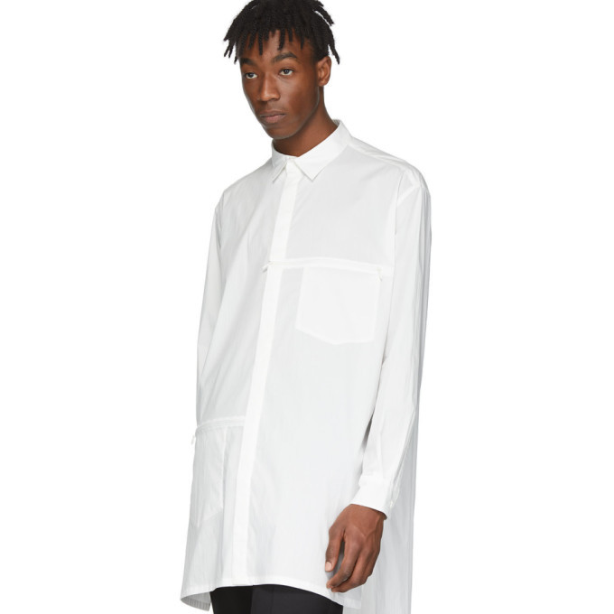 Y-3 White Poplin Logo Shirt