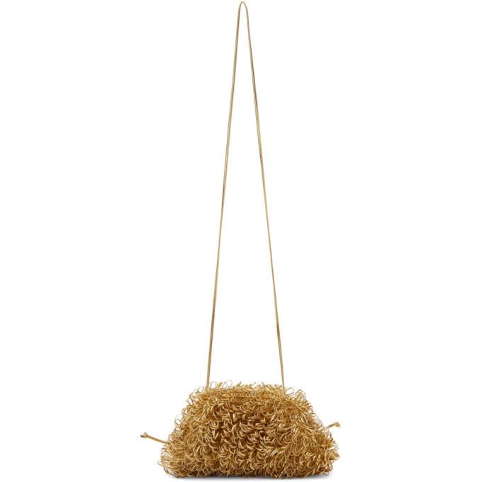 Photo: Bottega Veneta Gold Mini Curly Pouch