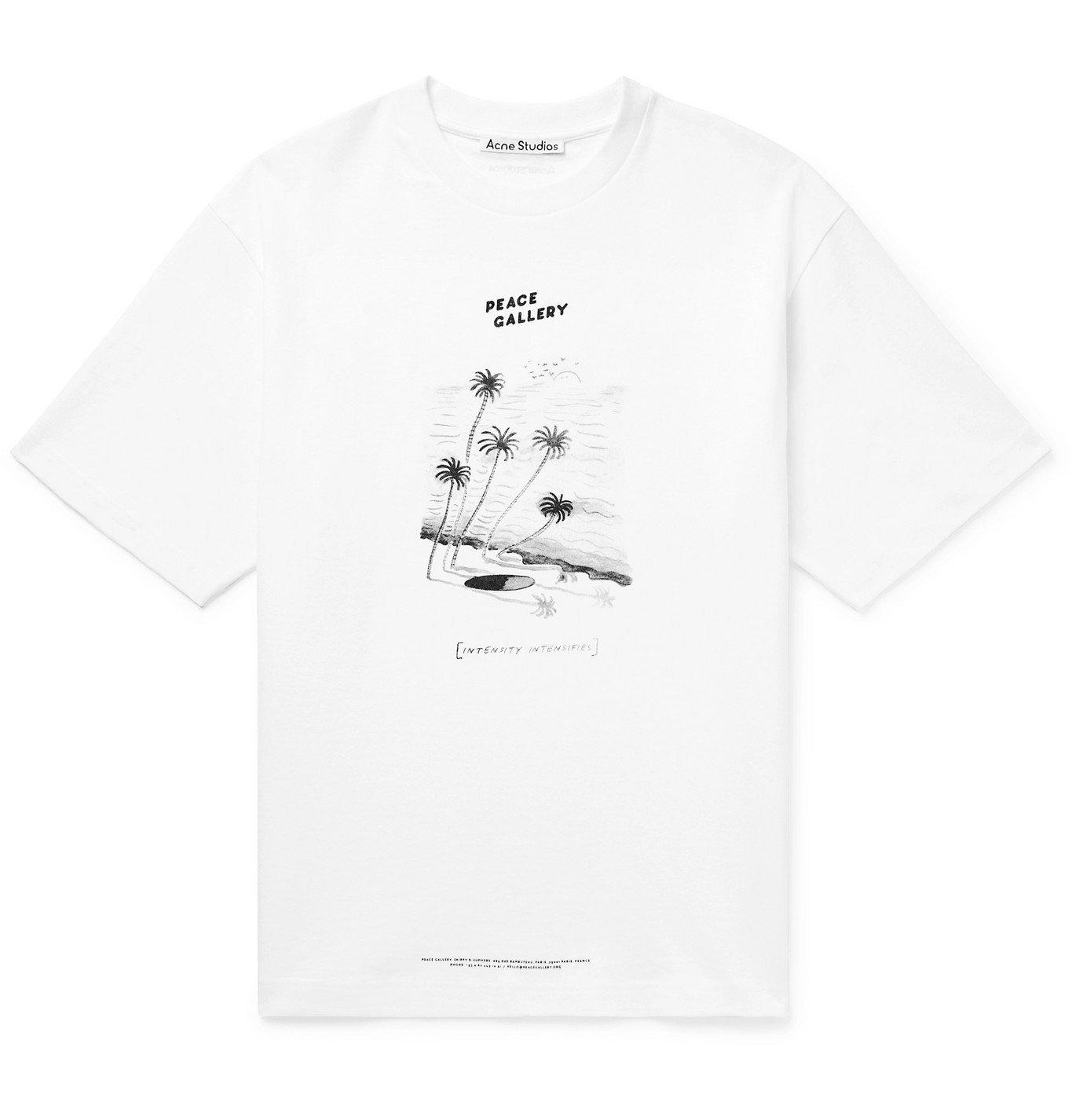 Photo: ACNE STUDIOS - Beni Bischof Extorr Printed Cotton-Jersey T-Shirt - White