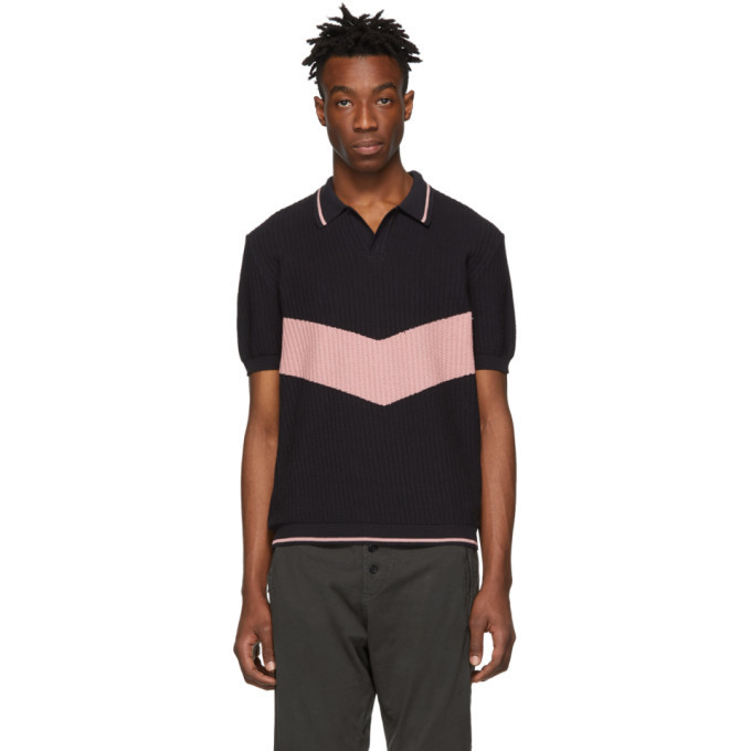 Photo: Golden Goose Navy and Pink Harry Polo