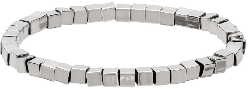 Photo: Hugo Silver Beaded-Metal Cuff Bracelet