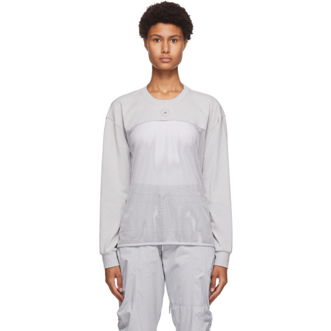 Photo: adidas by Stella McCartney Grey Mesh Long Sleeve T-Shirt