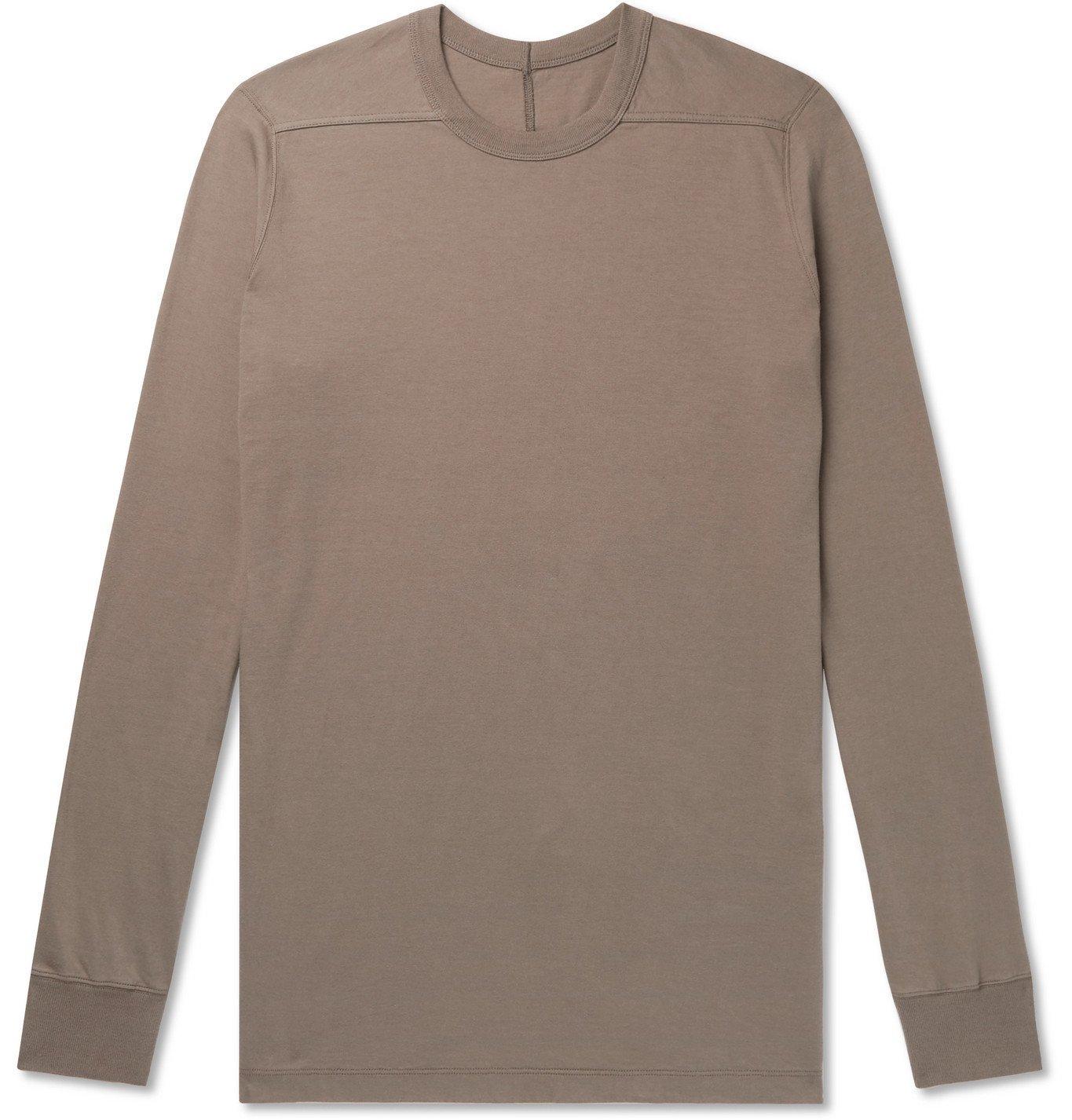 Photo: RICK OWENS - Level Slim-Fit Cotton-Jersey T-Shirt - Green