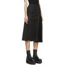 Sacai Black Half Pleat Skirt