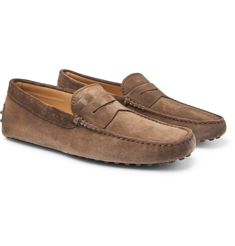 Tod's - Gommino Suede Driving Shoes - Light brown
