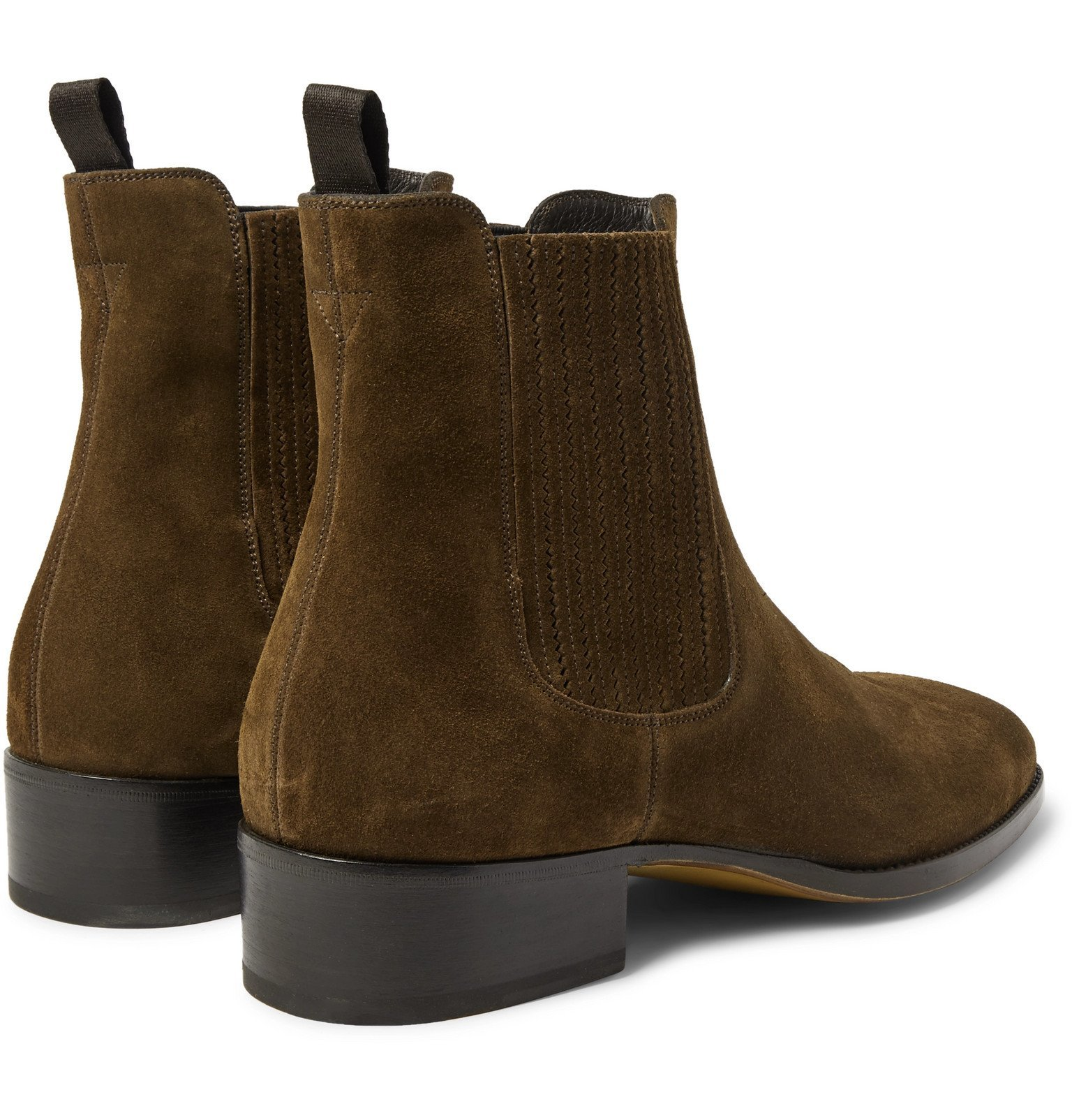 TOM FORD - Suede Chelsea Boots - Brown