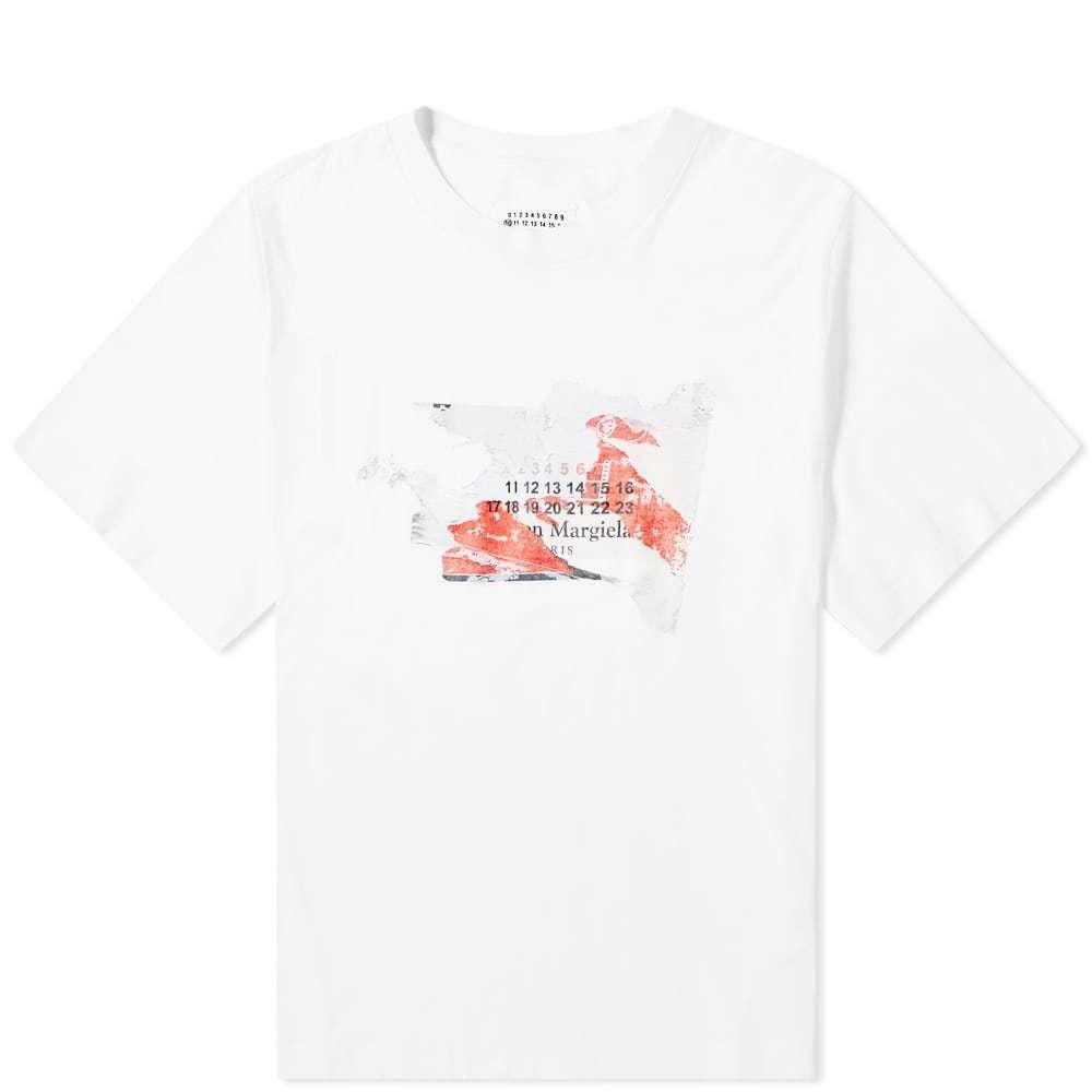 Photo: Maison Margiela 10 Distressed Logo Print Tee White