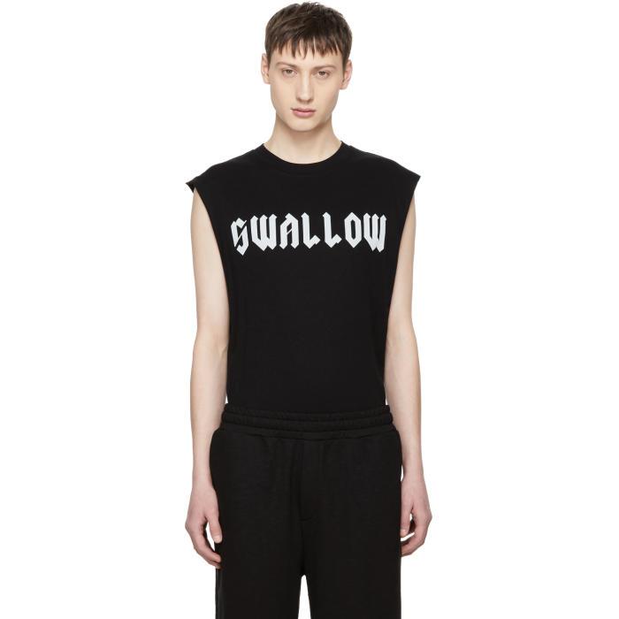 Photo: McQ Alexander McQueen Black Sleeveless Swallow T-Shirt
