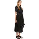 Sacai Black Organza Dress