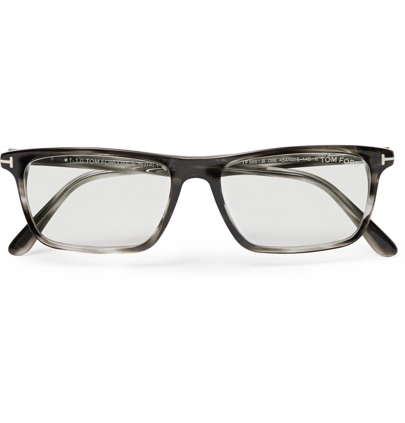 Photo: TOM FORD - Square-Frame Acetate Optical Glasses - Gray
