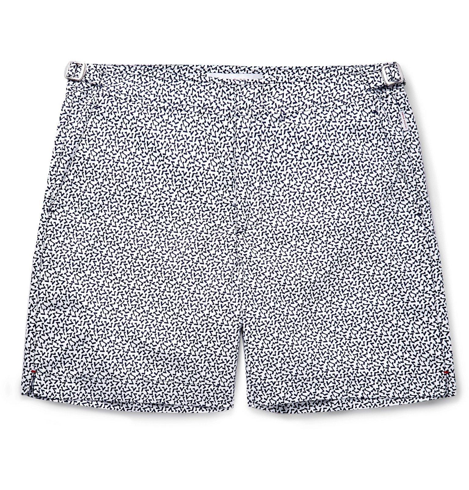 Photo: Orlebar Brown - Bulldog Avila Mid-Length Printed Swim Shorts - White