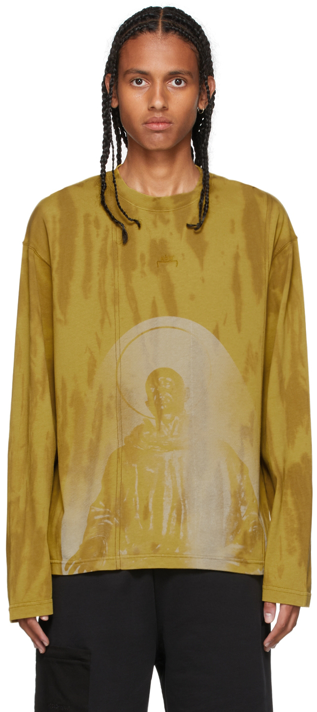 Photo: A-COLD-WALL* Yellow Erosion Long Sleeve T-Shirt