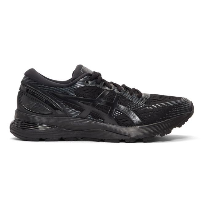 Photo: Asics Black Gel-Nimbus 21 Sneakers