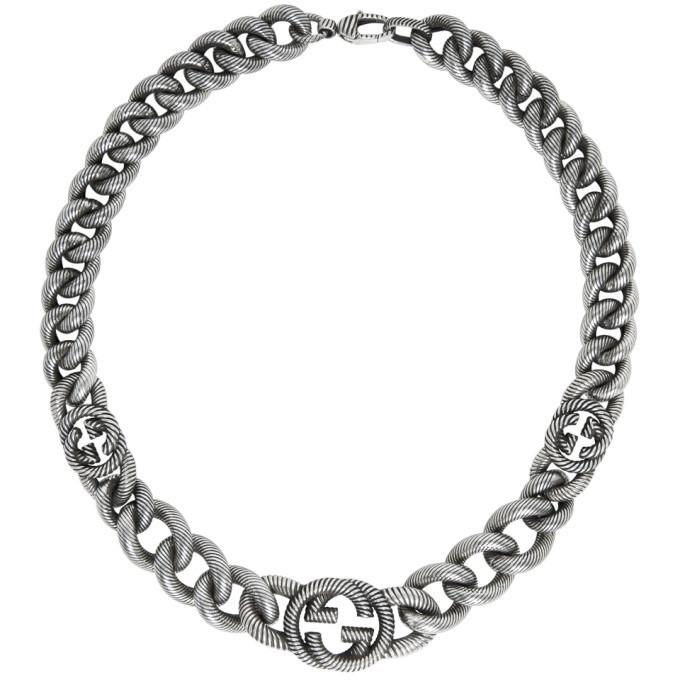 Photo: Gucci Silver Interlocking G Necklace