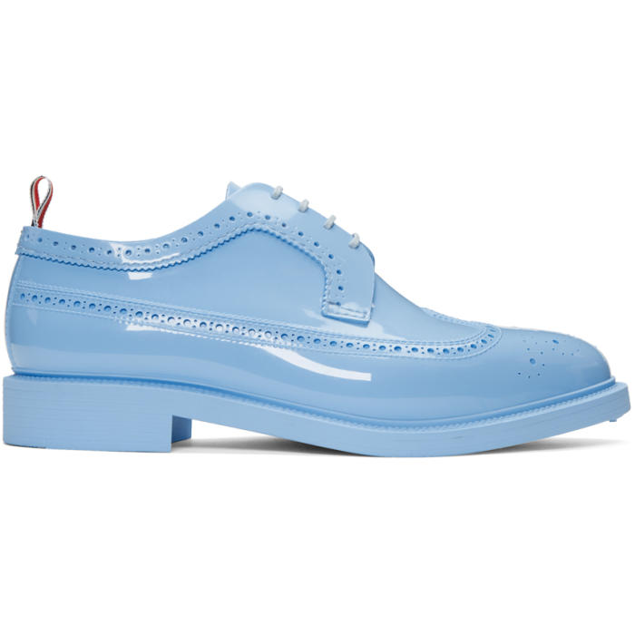 Photo: Thom Browne Blue Rubber Classic Longwing Brogues