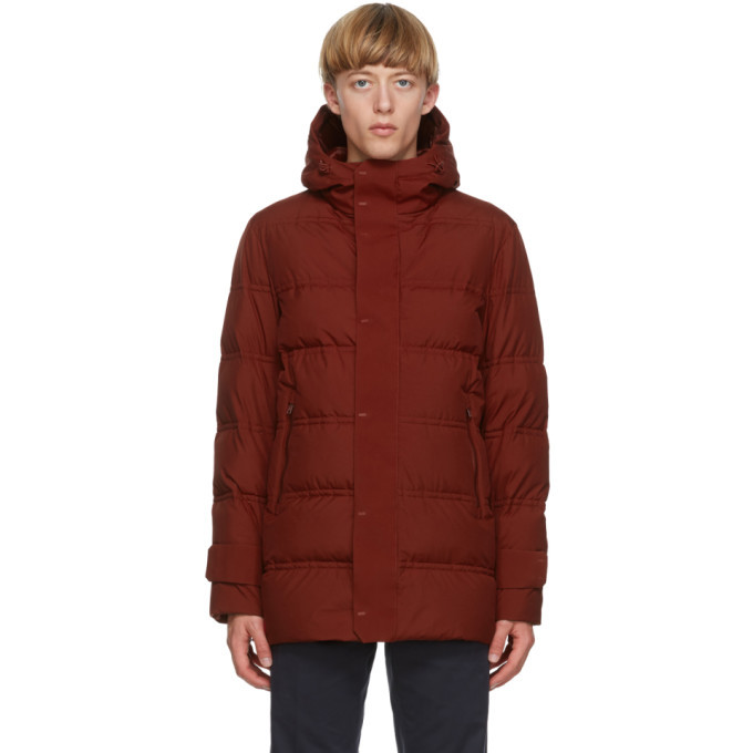 Photo: Herno Red Down Seamong Hooded Parka