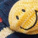 KAPITAL - Smiley Striped Cotton and Hemp-Blend Socks - Blue
