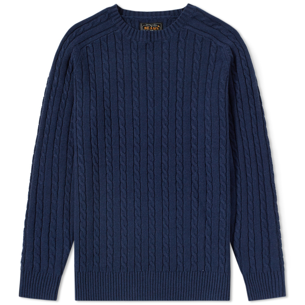 Photo: Beams Plus Cable Crew Knit