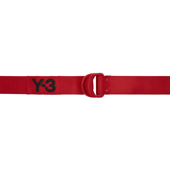 Y-3 Red Logo Belt