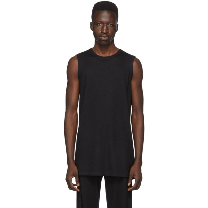 Photo: Frenckenberger SSENSE Exclusive Black Cashmere Tank Top