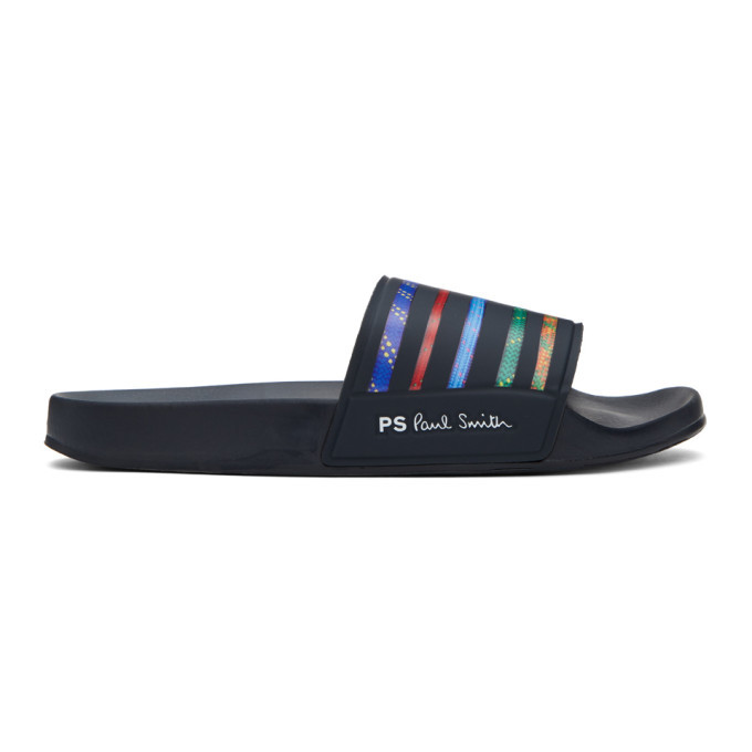 Photo: PS by Paul Smith Multicolor Striped Summit Slides