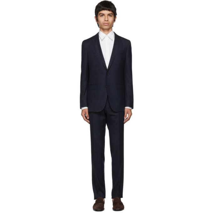 Photo: Boss Navy Virgin Novan Ben Check Suit