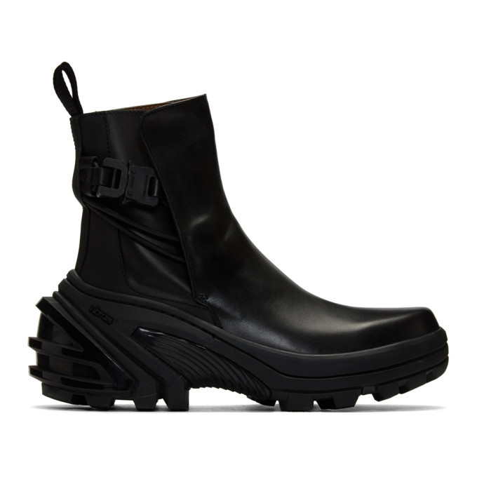 Photo: 1017 ALYX 9SM Black Fixed Sole Low Buckle Boots
