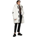 Raf Simons White Templa Edition Oversized Wadded Ski Coat