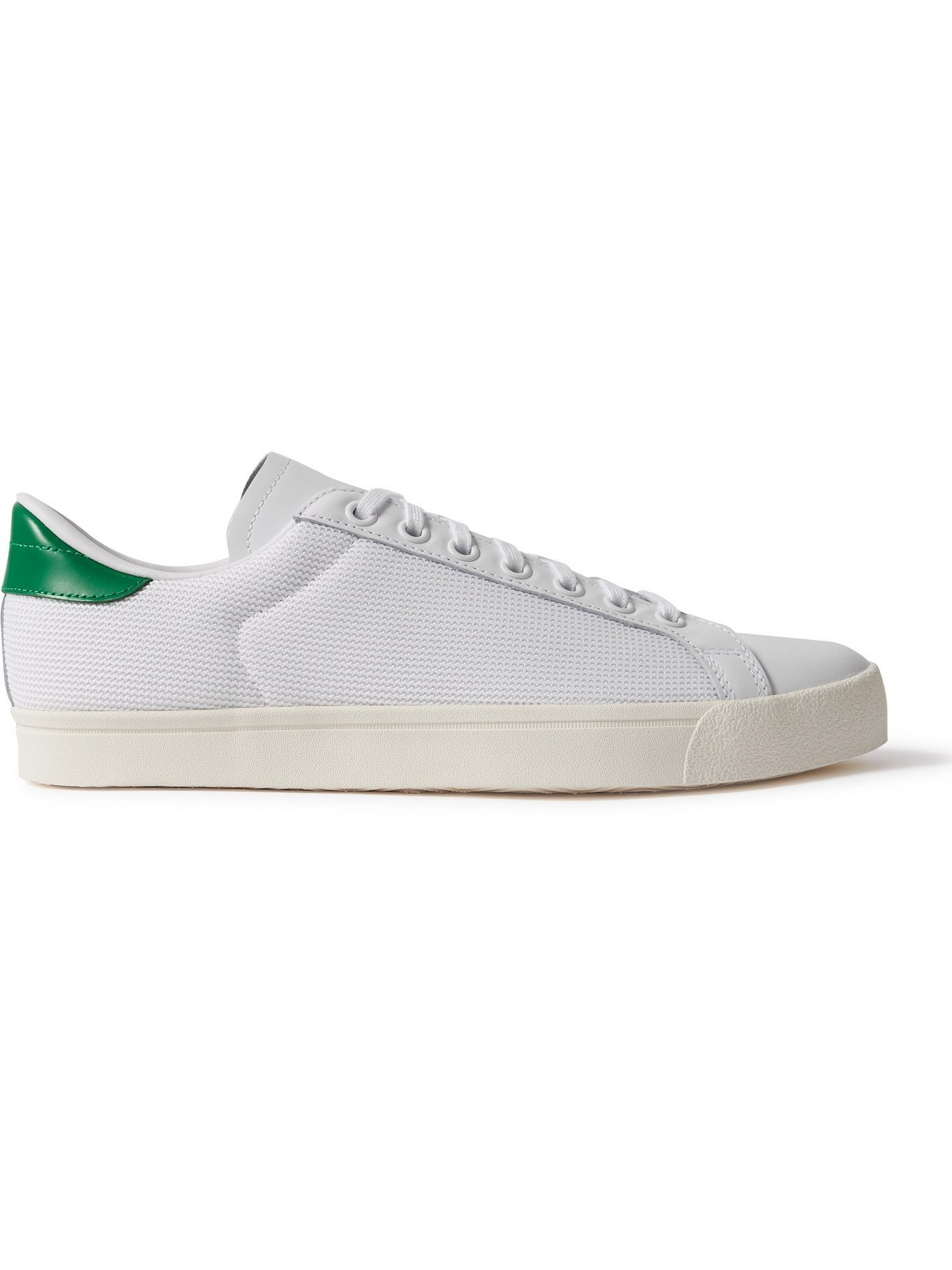 Photo: ADIDAS ORIGINALS - Rod Laver Mesh and Leather Sneakers - White