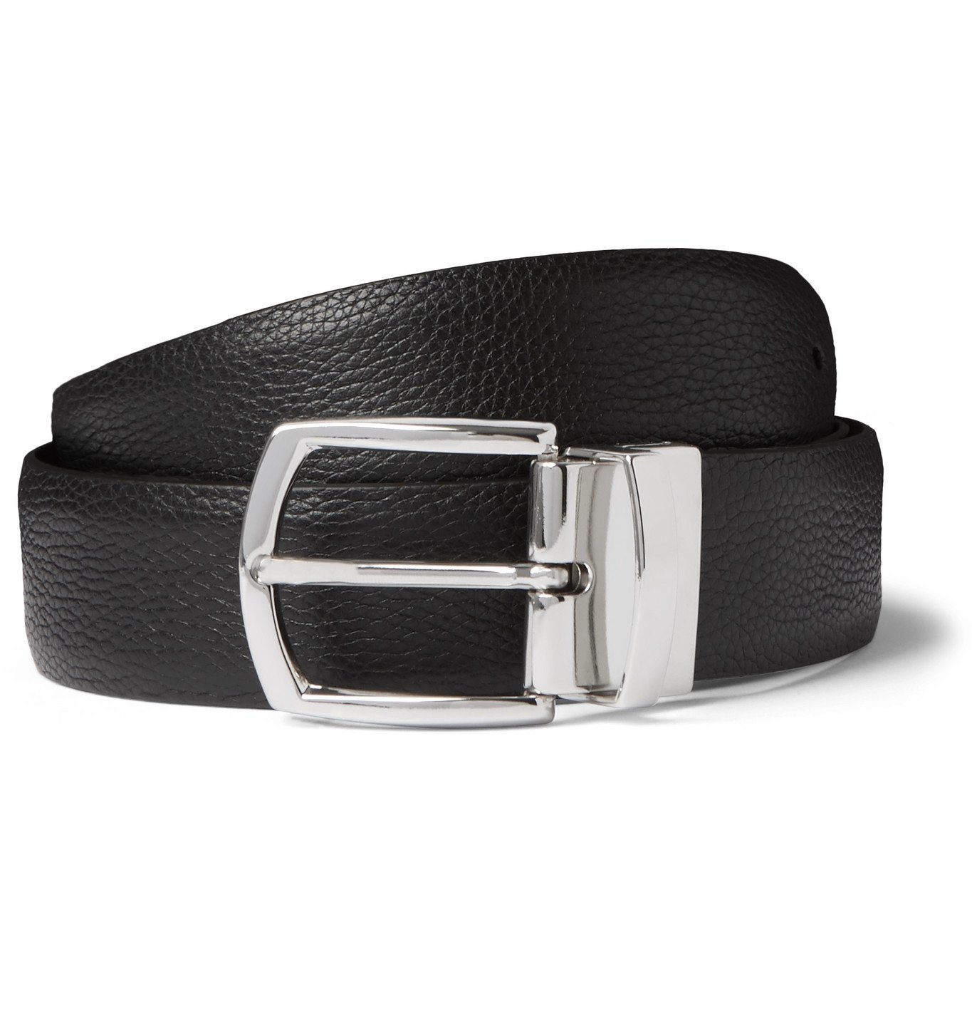 Photo: Anderson's - 3.5cm Full-Grain Leather Belt - Black