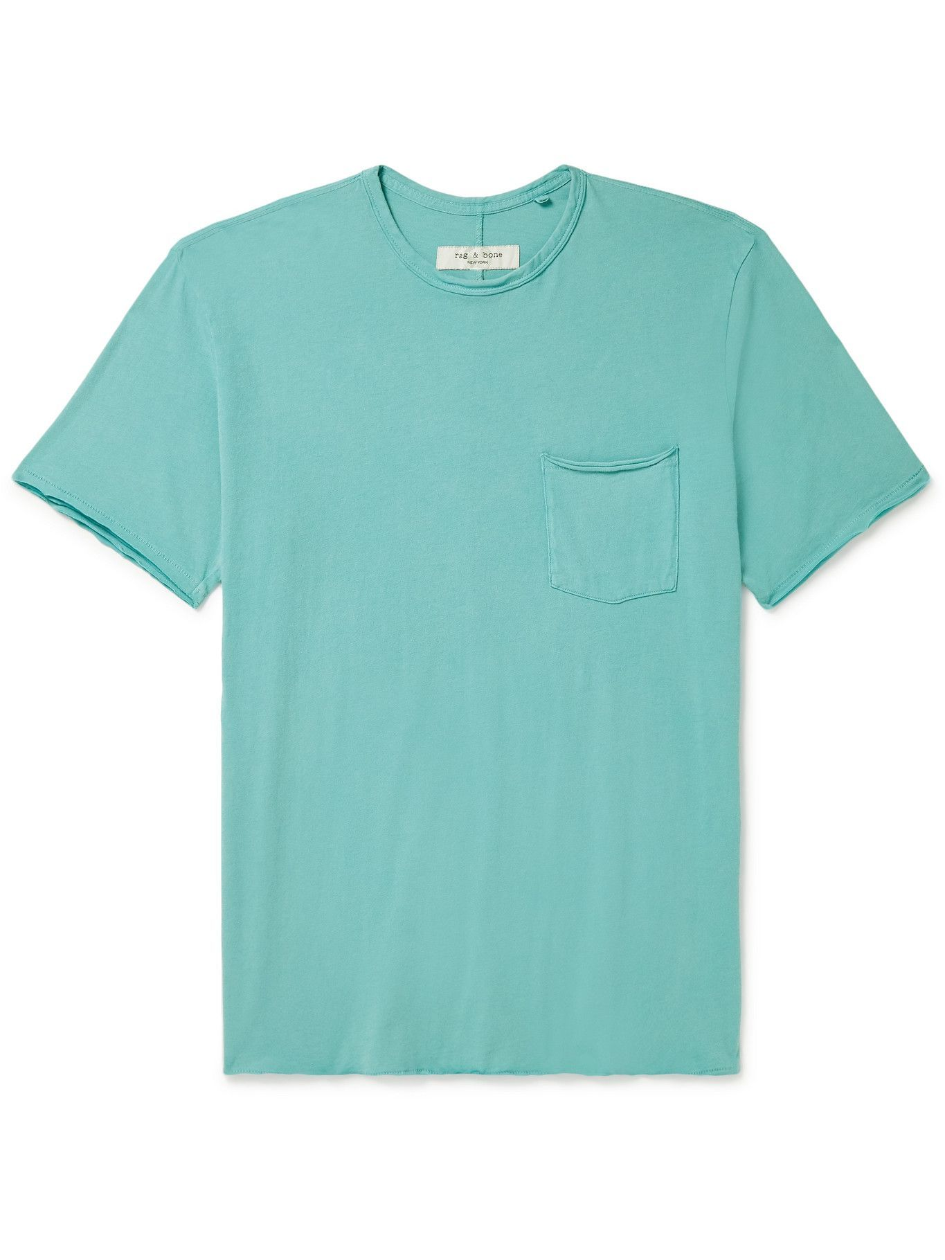 Photo: RAG & BONE - Miles Organic Cotton-Jersey T-Shirt - Blue