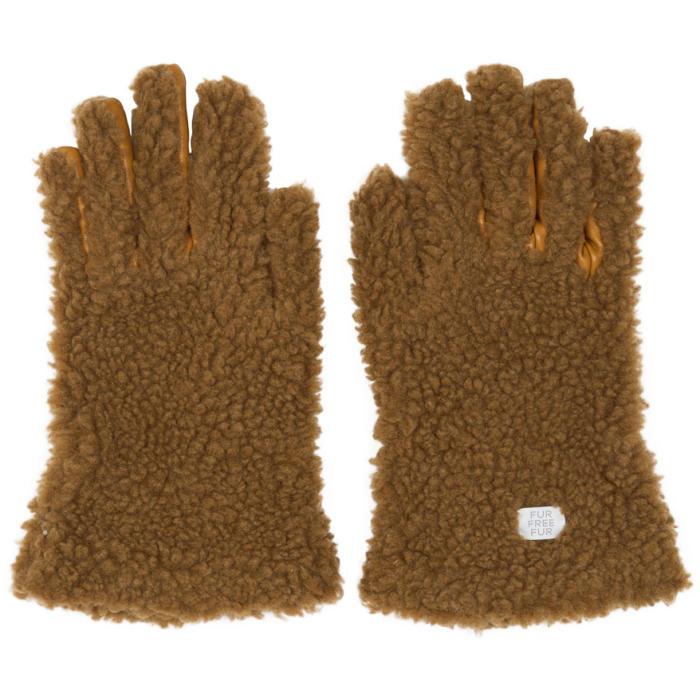 Photo: Stella McCartney Tan Faux-Fur Gloves