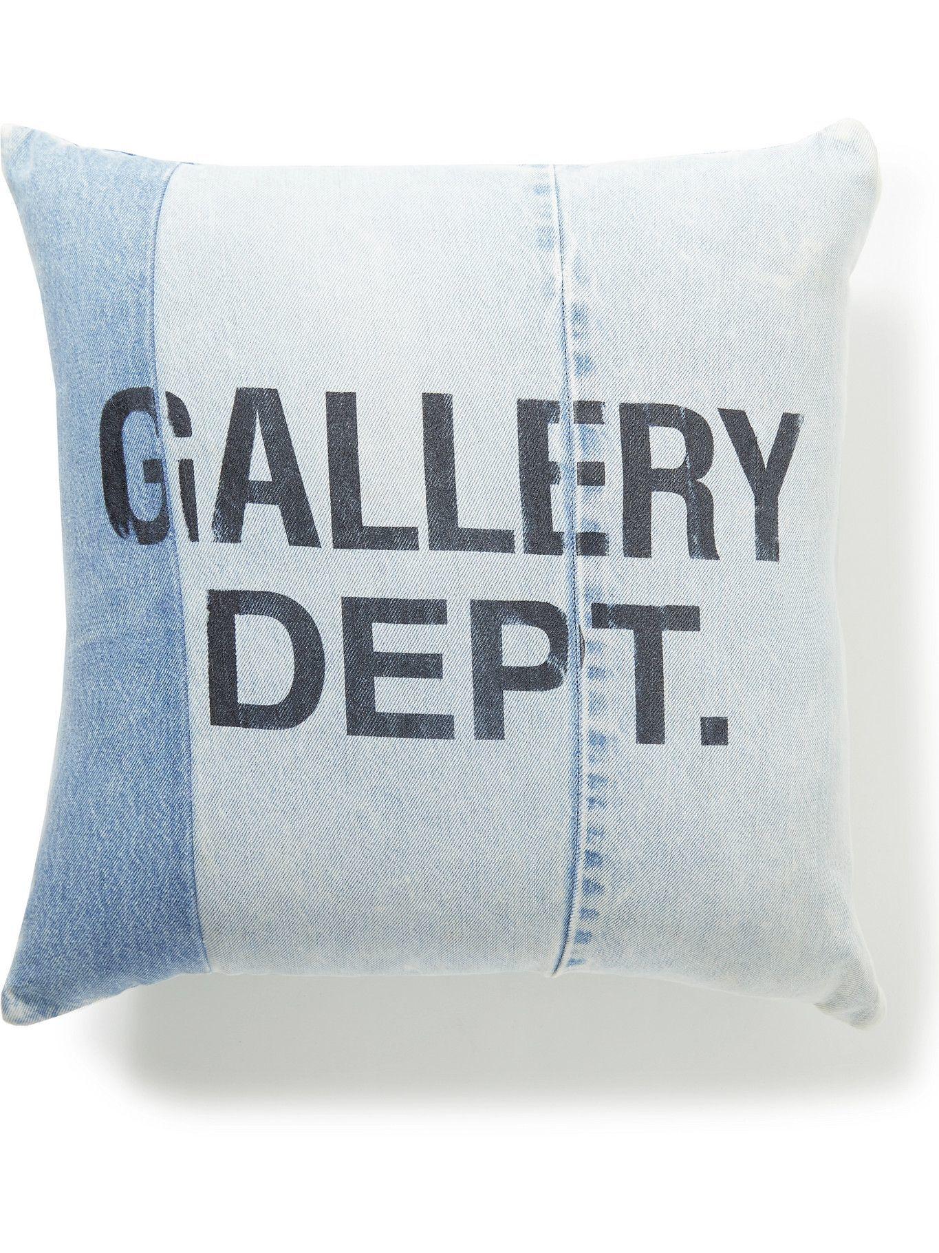 Photo: Gallery Dept. - Logo-Print Denim Pillow