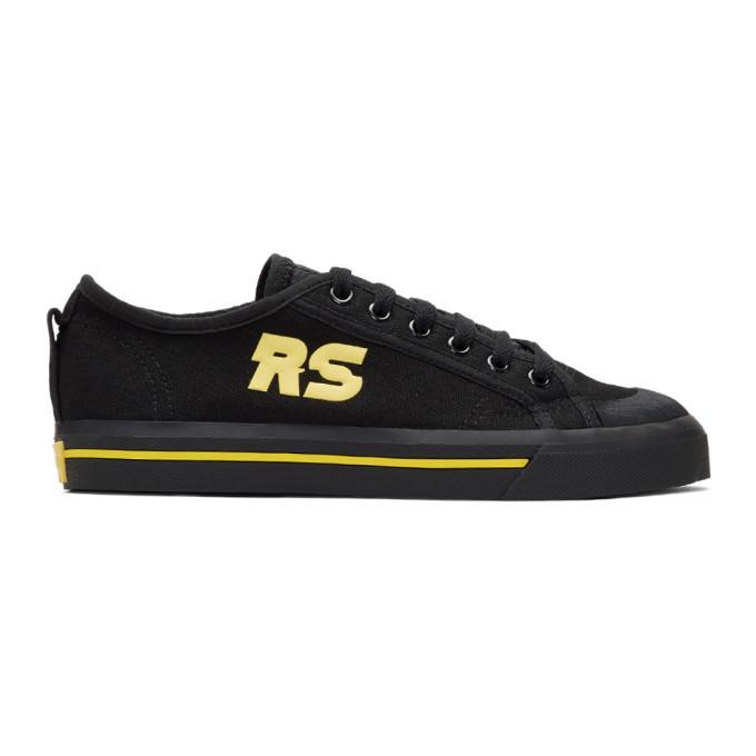 Raf Simons Black and Yellow adidas Originals Edition Spirit V Sneakers