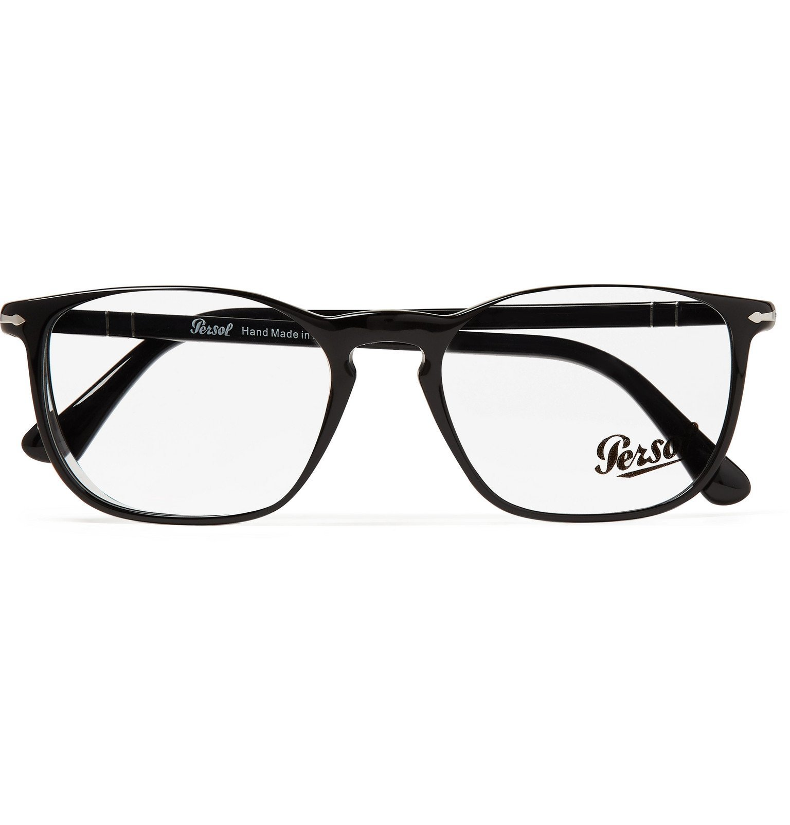 Photo: Persol - Square-Frame Acetate Optical Glasses - Black