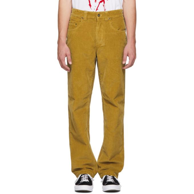 Photo: NAPA by Martine Rose Yellow Corduroy Blackburn Trousers