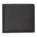 Smythson Black Panama 6 Card Wallet