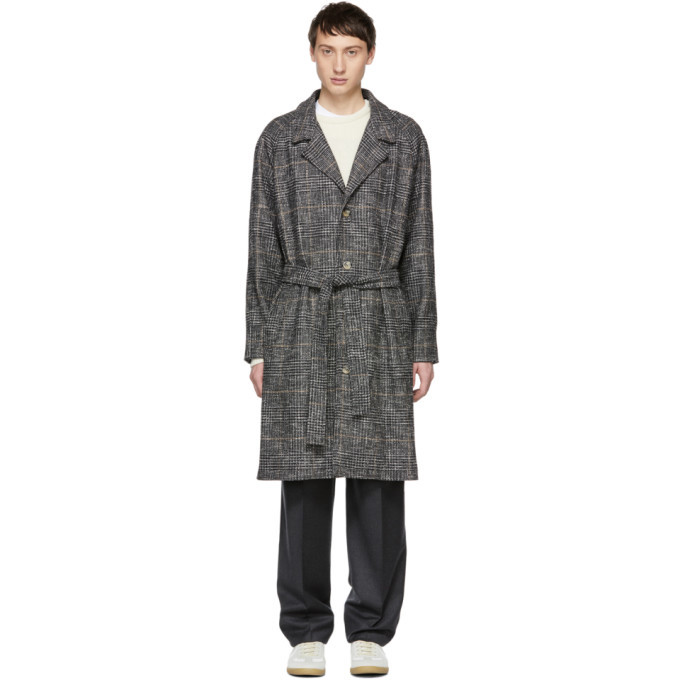 Photo: Editions M.R Grey Check Tristan Belted Coat