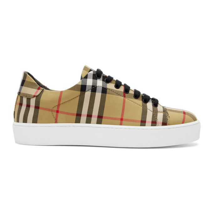 Photo: Burberry Tan House Check Westford Sneakers
