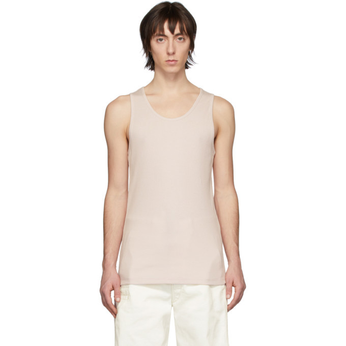 Photo: Lemaire Pink Rib Knit Tank Top
