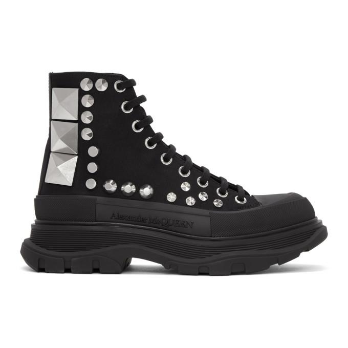 Photo: Alexander McQueen Black Studded Boots