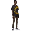 Ksubi Black and Yellow Dazed Short Sleeve Shirt