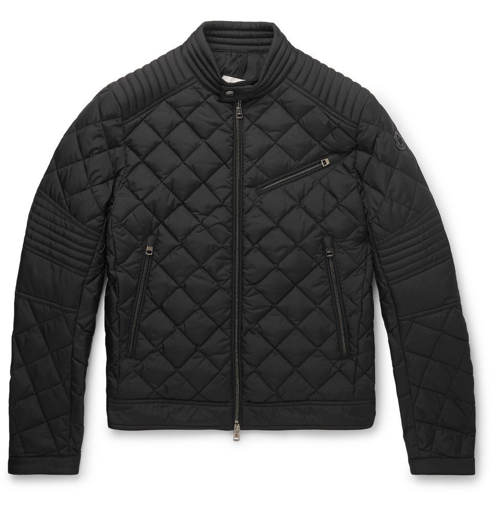 Photo: Moncler - Breitman Quilted Shell Down Biker Jacket - Black