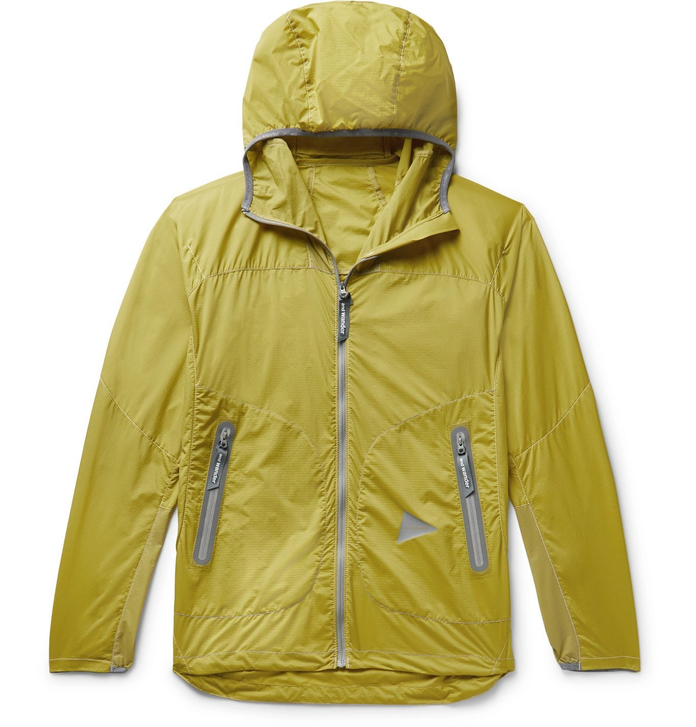 Photo: And Wander - Weave Windy Ripstop Hooded Jacket - Yellow