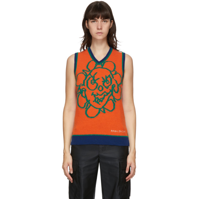 Photo: Marc Jacobs Orange and Purple Heaven by Marc Jacobs Crazy Daisy Vest