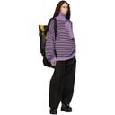 Raf Simons Purple and Black Jacquard Lurex Multi Collar Turtleneck