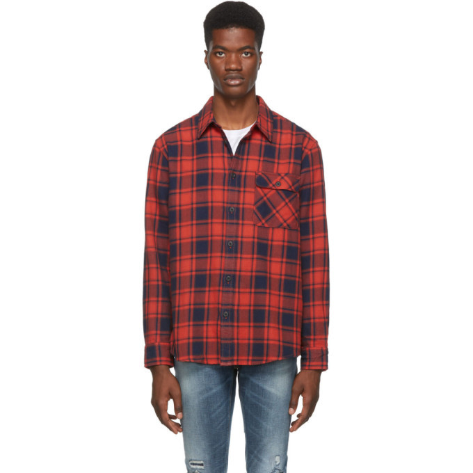 Photo: Nudie Jeans Red and Black Flannel Check Sten Shirt
